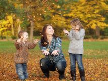 Mother witch children Royalty Free Stock Images