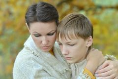 Mother With Her Son In The Park Stock Image