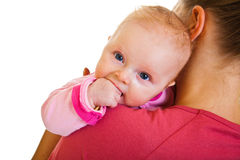Free Mother With Infant Isolated On Royalty Free Stock Photo - 22111025