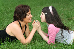 Mother With Teenager Stock Photography