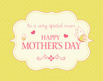 Free Mother&x27;s Day Card Stock Image - 18925381