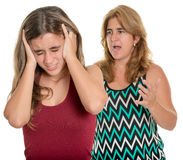 Mother yelling at her teenage daughter Stock Photo