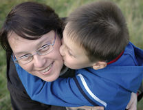 Mother and young boy Royalty Free Stock Photos