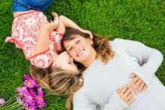 Mother and young daughter in the park Stock Photography