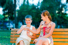 Mother with young son Stock Images