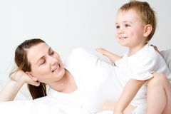 Mother and young son Royalty Free Stock Image