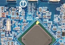 Motherboard. Circuit board. Computer Chip.  CopySpace Stock Photos