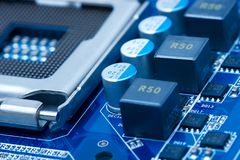 Motherboard. Detail of a computer mainboard Stock Photography