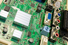 Motherboard. Background can use the Internet, print advertising and design Stock Image