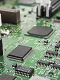 Motherboard. Chip processor transistor on pcb Stock Photo