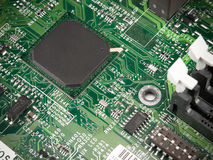 Motherboard. Chip processor transistor on pcb Royalty Free Stock Photography