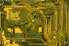 Motherboard. Back side of mother board royalty free stock photo