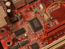 Motherboard. Close up Stock Image