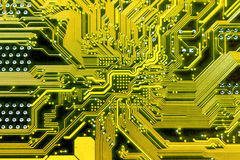 Motherboard. Abstract background with old computer circuit board Stock Photo