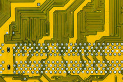 Motherboard. Abstract background with old computer circuit board Stock Images