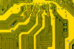 Motherboard. Abstract background with old computer circuit board Royalty Free Stock Photos