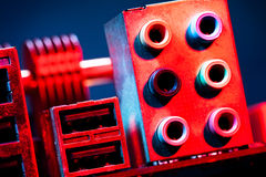 Motherboard audio Royalty Free Stock Photos
