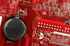 Motherboard batterij Royalty-vrije Stock Foto