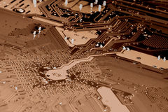 Motherboard_brown Photo libre de droits