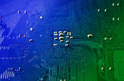 Motherboard circuit Stock Image