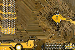 Motherboard circuit board Royalty Free Stock Images