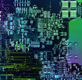 Motherboard circuit close-up Royalty Free Stock Photography