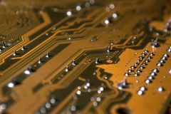 Motherboard Circuit Close Up royalty free stock photos