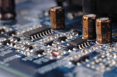 Motherboard close up Stock Images