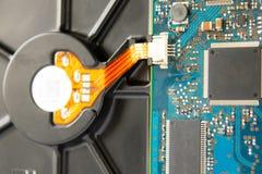 Motherboard close-up De bewerker van de computer royalty-vrije stock foto's