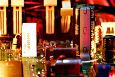 Motherboard componenten Stock Fotografie