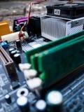 Motherboard componenten Stock Afbeelding
