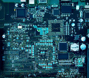 Motherboard components and circuits Stock Image