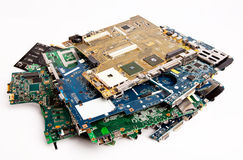 Motherboard composition Royalty Free Stock Photo