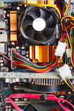 Motherboard of a contemporary  computer. Hardware Royalty Free Stock Photography