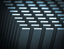 Motherboard cooler. Details of a computer motherboard Stock Images