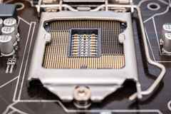 Motherboard CPU Socket Royalty Free Stock Images
