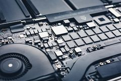 Motherboard des modernen Laptops Stockbild