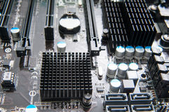 Motherboard detail view Royalty Free Stock Image
