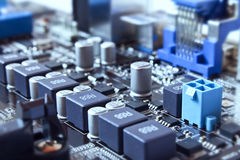 Motherboard details Stock Photo