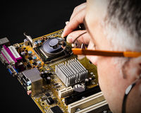 Motherboard diagnostic Royalty Free Stock Photography