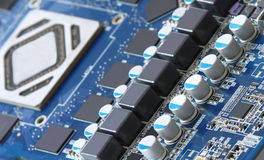Motherboard diode royalty free stock photo