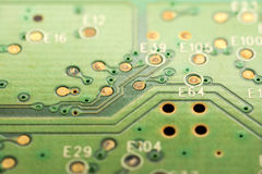 Motherboard Electronic Circuits Stock Photo