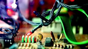 Motherboard Electronic hardware technology stock footage