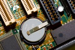 Motherboard extreme macro Royalty Free Stock Photography