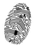 Motherboard fingerprint. For security or computer concept design Royalty Free Stock Photography