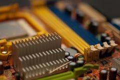 Motherboard, in groot deel door deel wordt genomen dat Stock Afbeelding