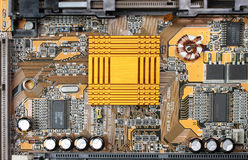 Motherboard heat sink Royalty Free Stock Photos