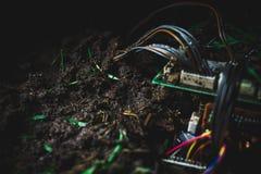 Motherboard in het vuil Royalty-vrije Stock Afbeeldingen