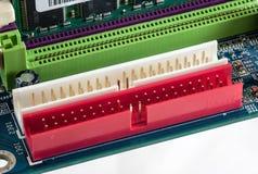 Motherboard - IDE Slots closeup, macro Stock Photography