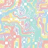 Motherboard-Illustrationshintergrund der Technologie abstrakter stock abbildung